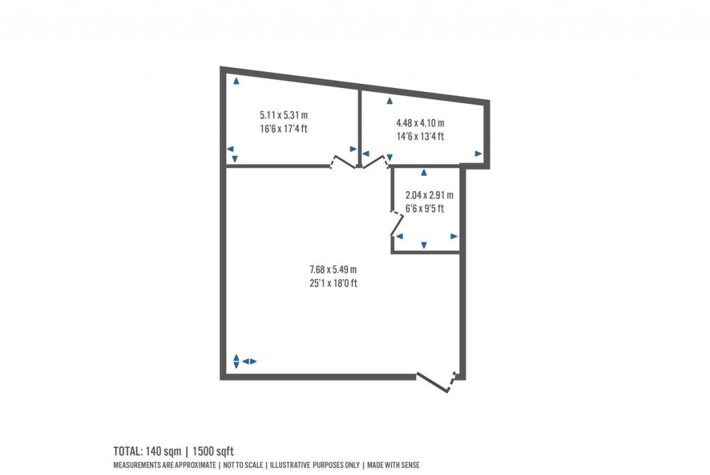 Floorplans For High Road, North Finchley, London