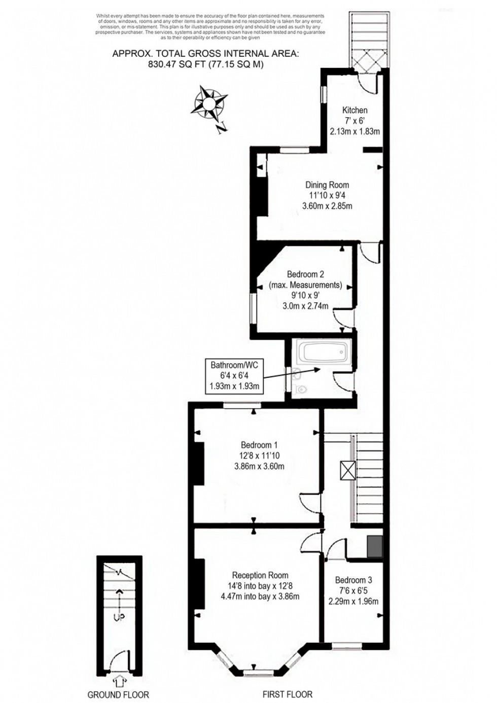 Floorplan for Widdenham Road, Holloway