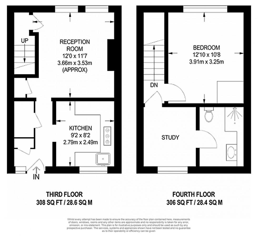 Floorplan for Rollit Street, London