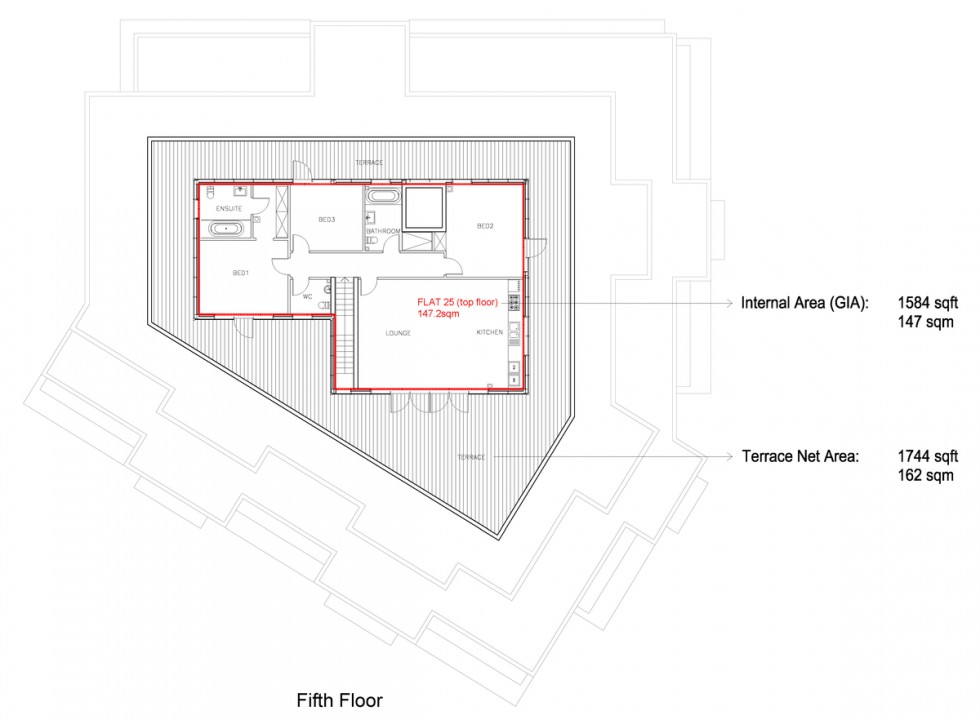 Floorplan for Holmes Road, London