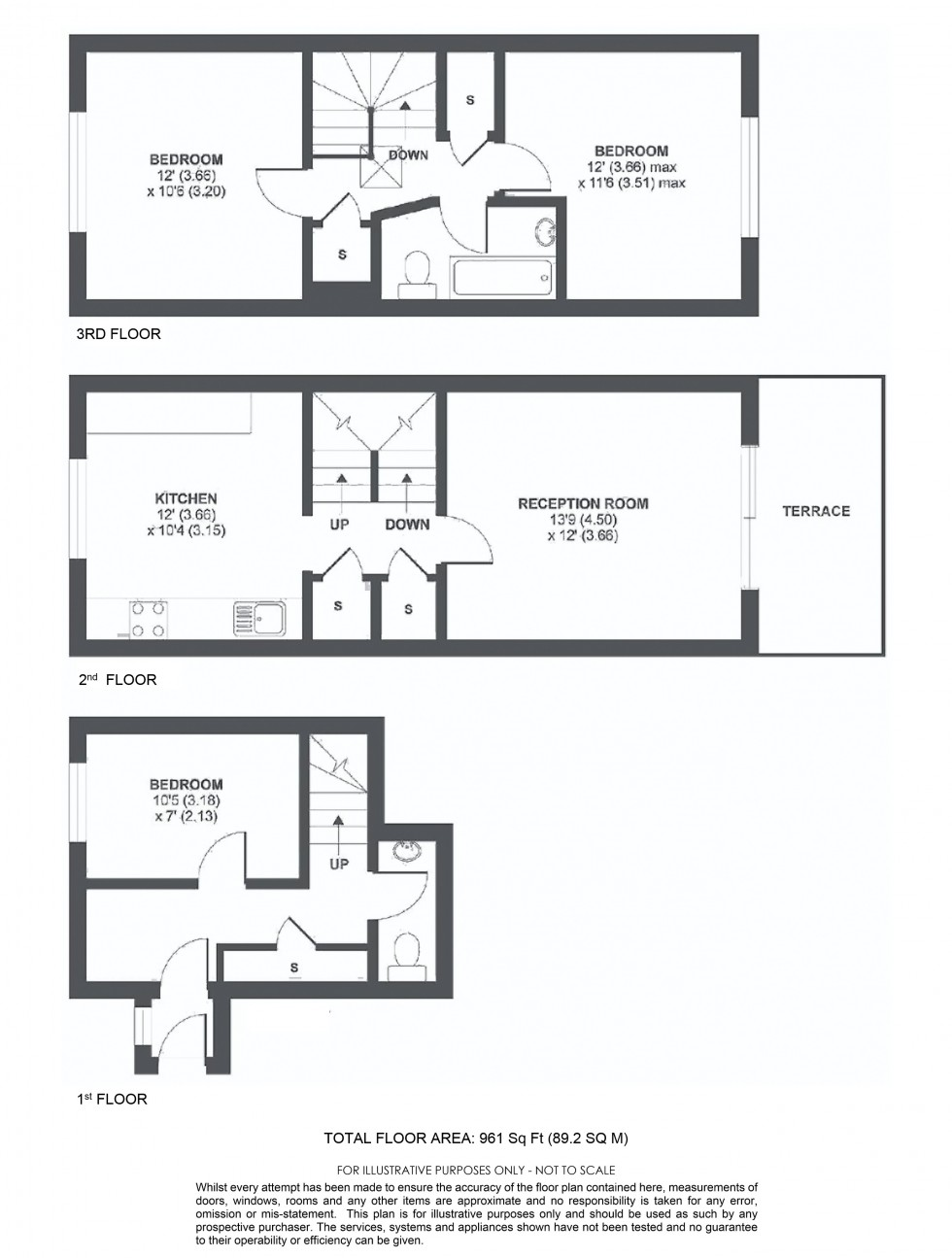 Floorplan for Annesley Walk, London
