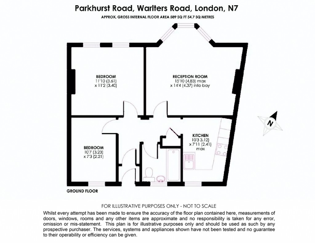 Floorplans For Warlters Road, Holloway