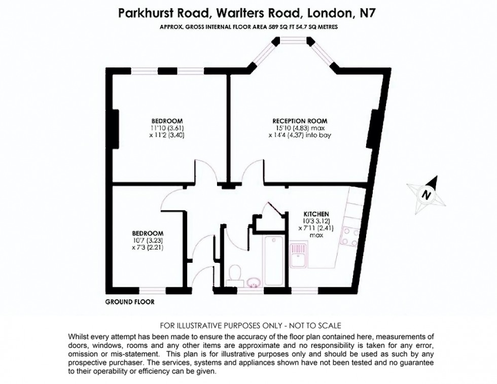 Floorplan for Warlters Road, Holloway