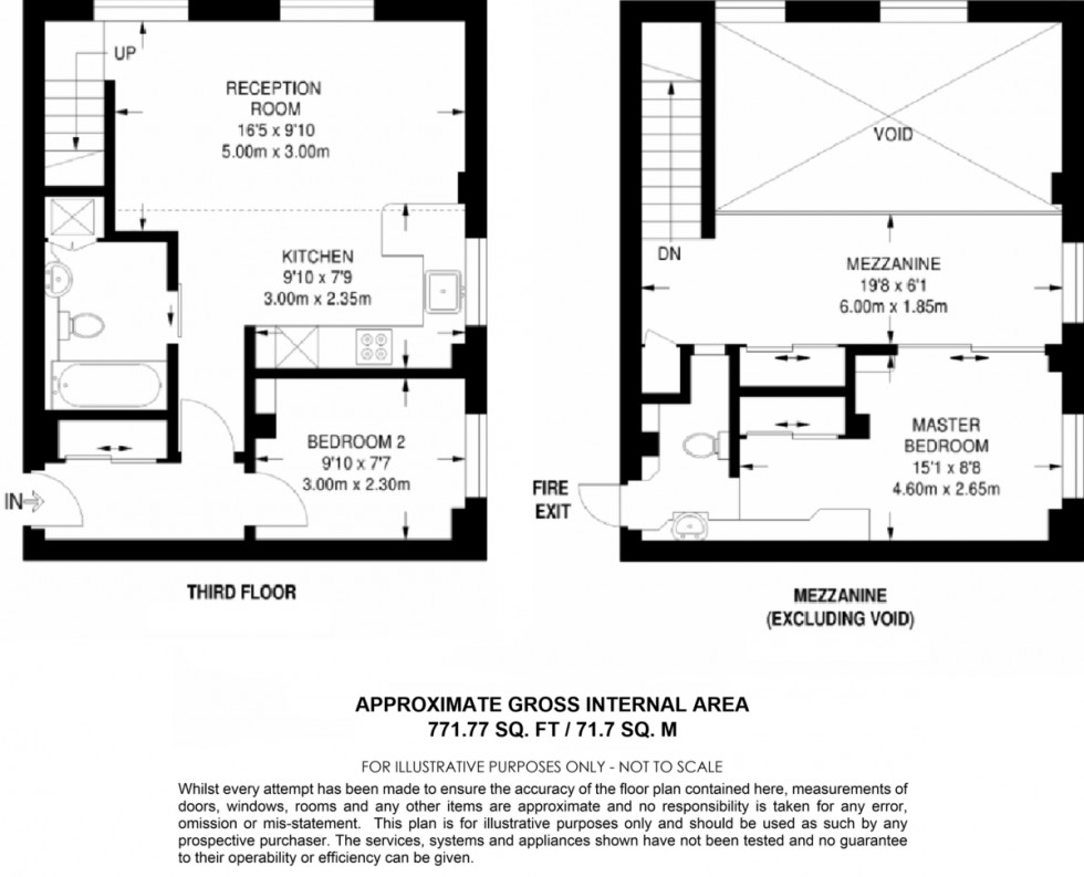 Floorplan for The Beaux Arts Building, Manor Gardens, N7
