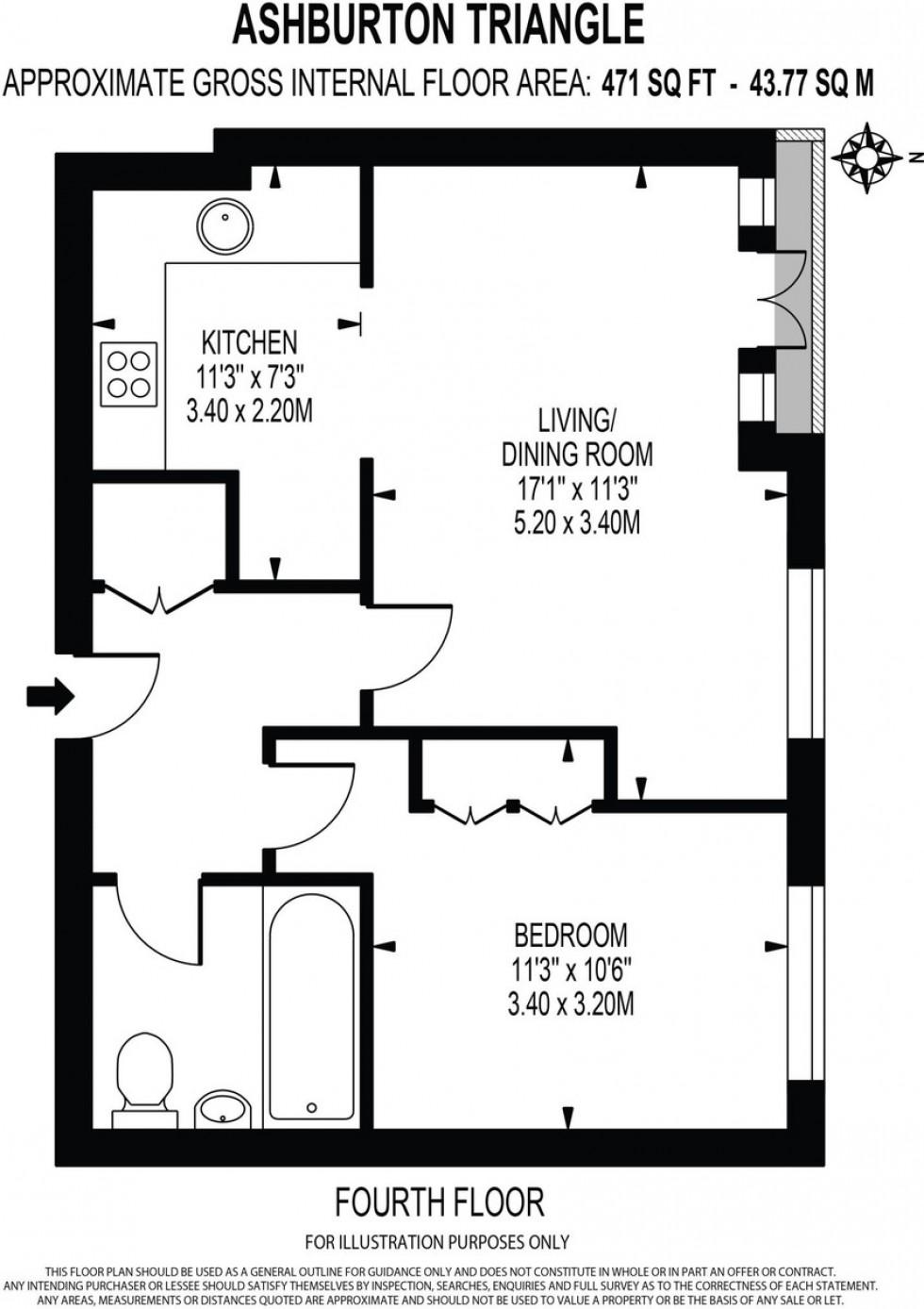 Floorplan for Drayton Park, London