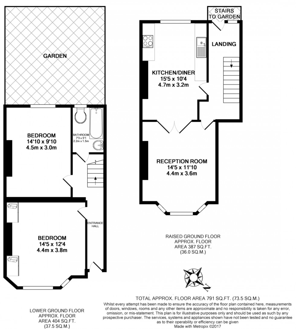 Floorplan for Berriman Road, London