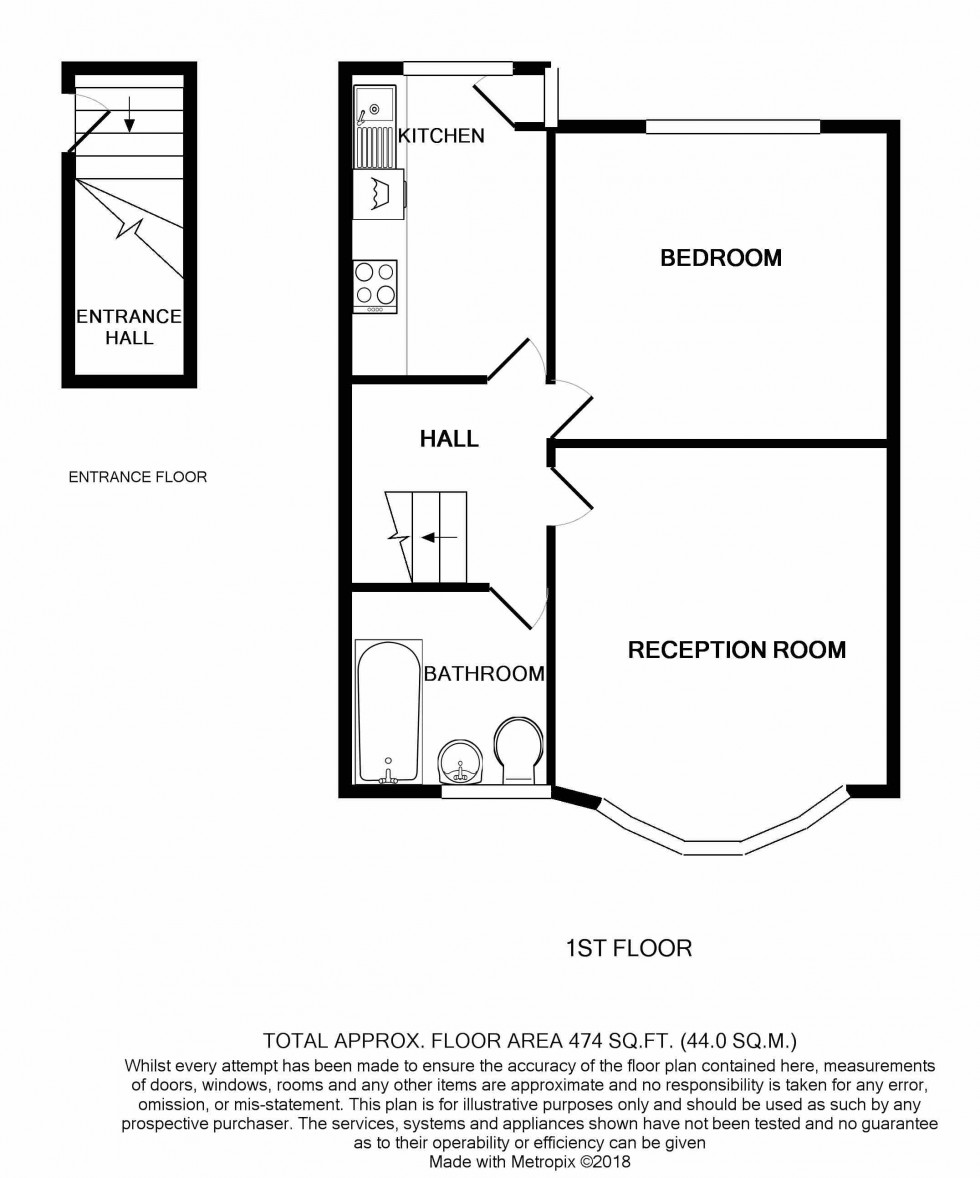 Floorplan for Warlters Close, Holloway