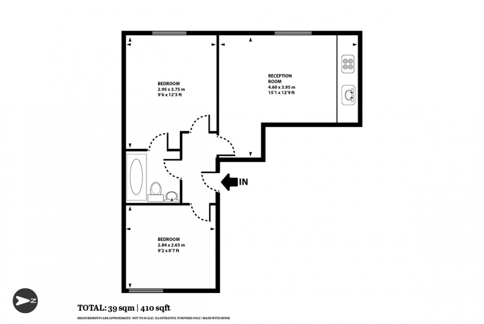 Floorplan for 542 Holloway Road, Islington