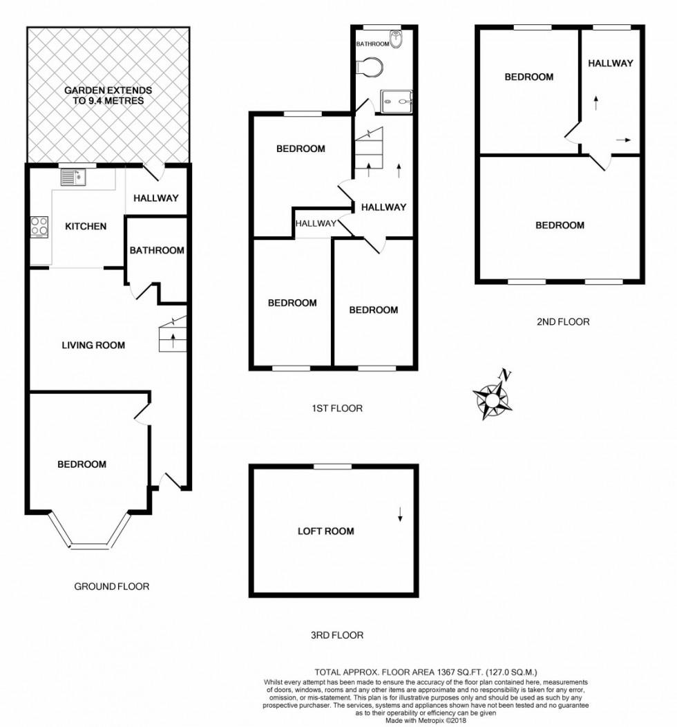 Floorplan for Roden Street, Holloway