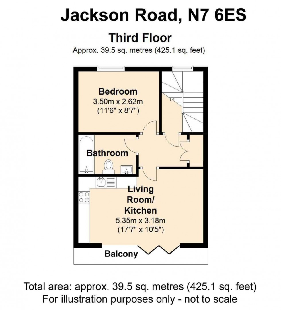 Floorplan for Jackson Road, London