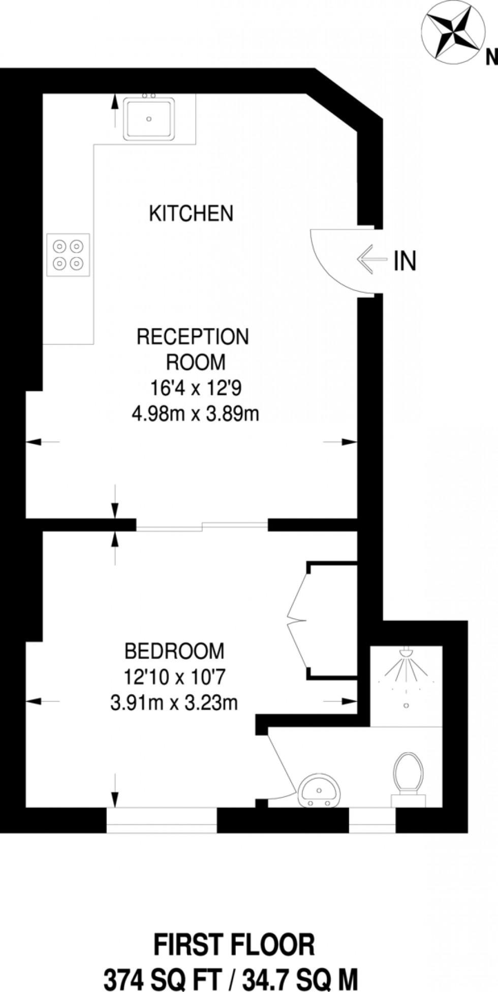 Floorplan for Bowman`s Mews, London
