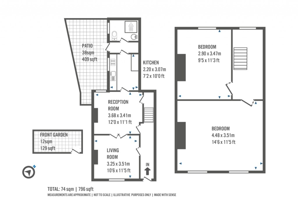 Floorplans For Mitford Road, London