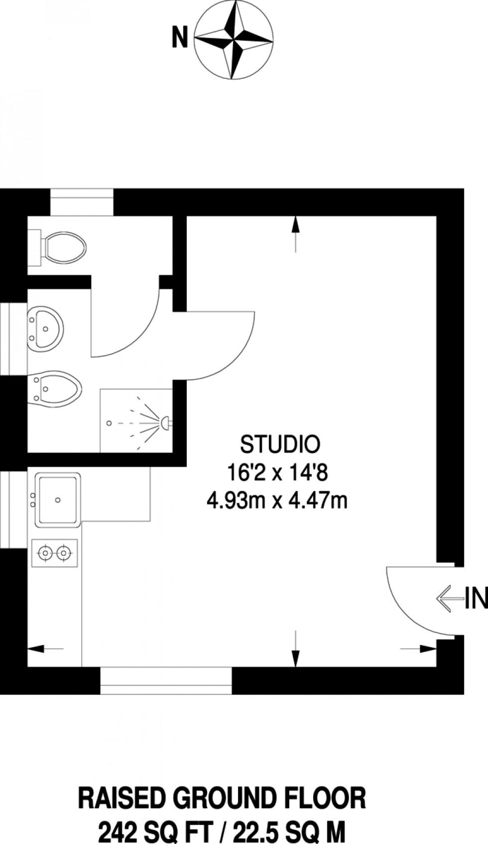 Floorplan for Elwood Street, Highbury