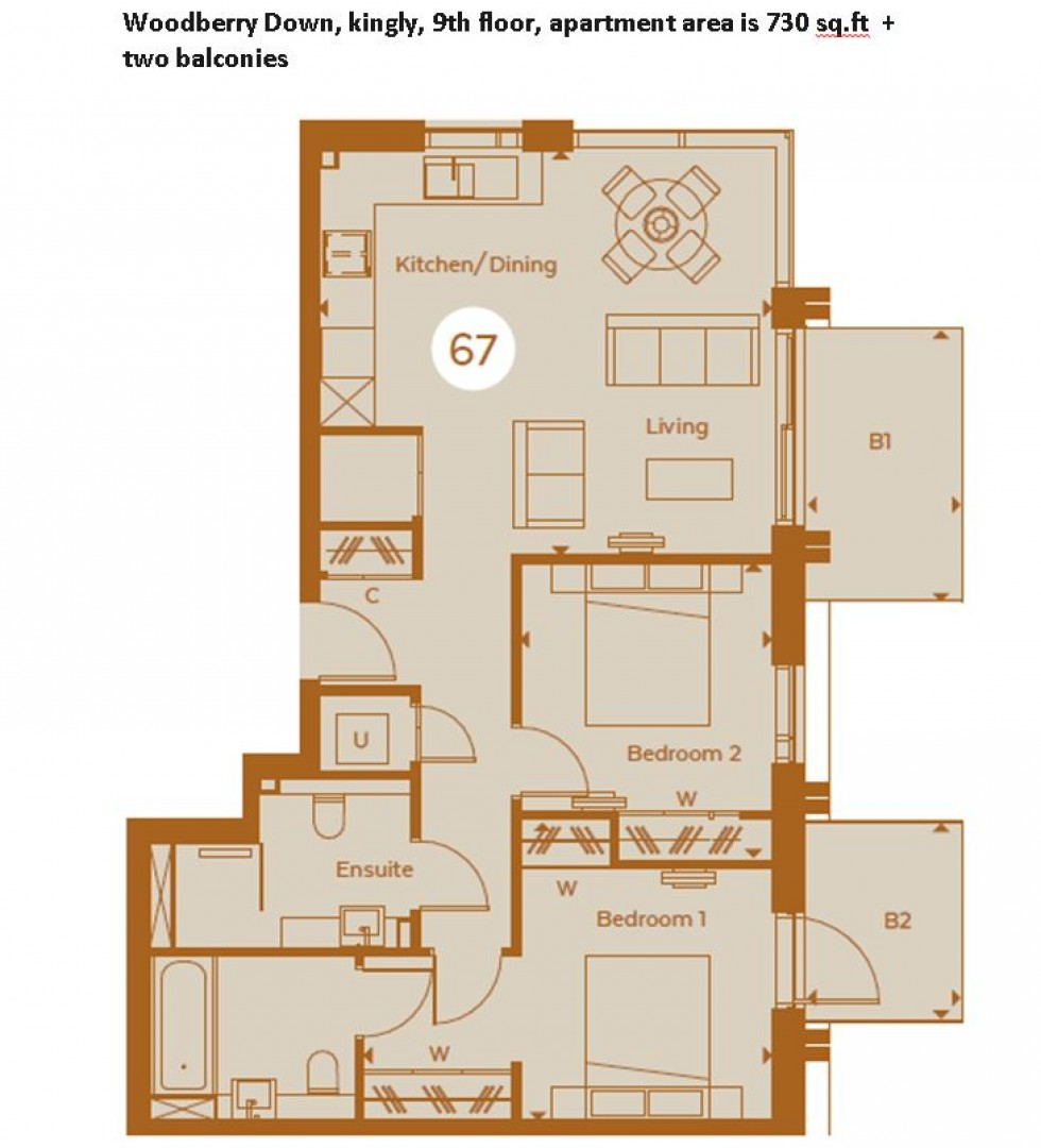 Floorplan for Woodberry Grove, London