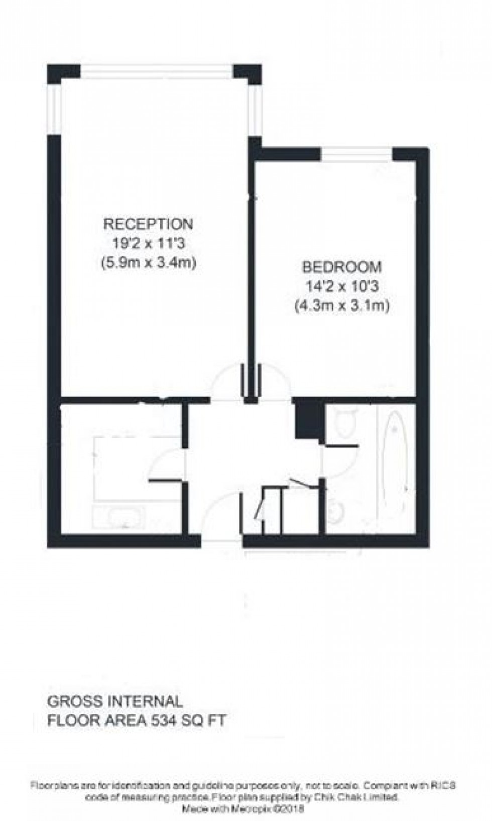 Floorplan for Crouch End Hill, London