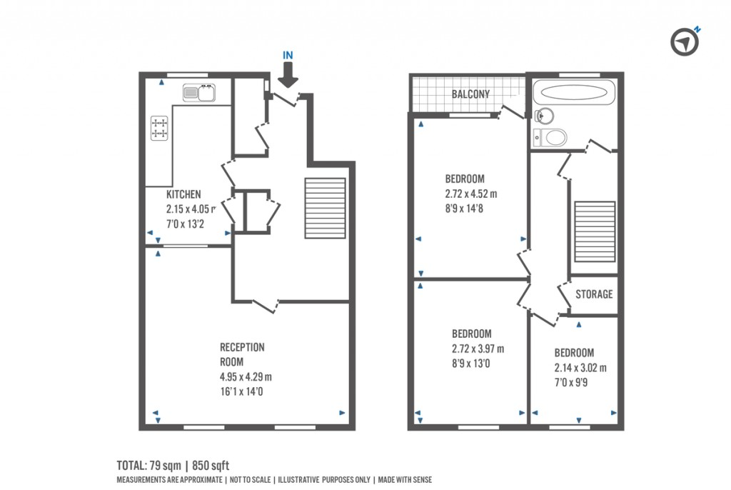Floorplans For New Orleans Walk, London