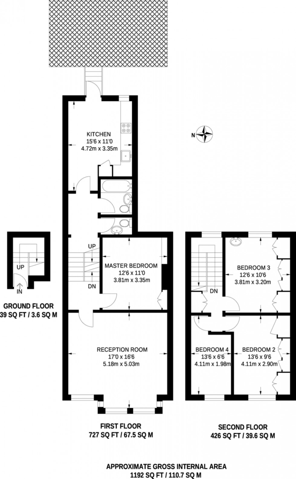 Floorplan for Campdale Road, Tufnell Park, London