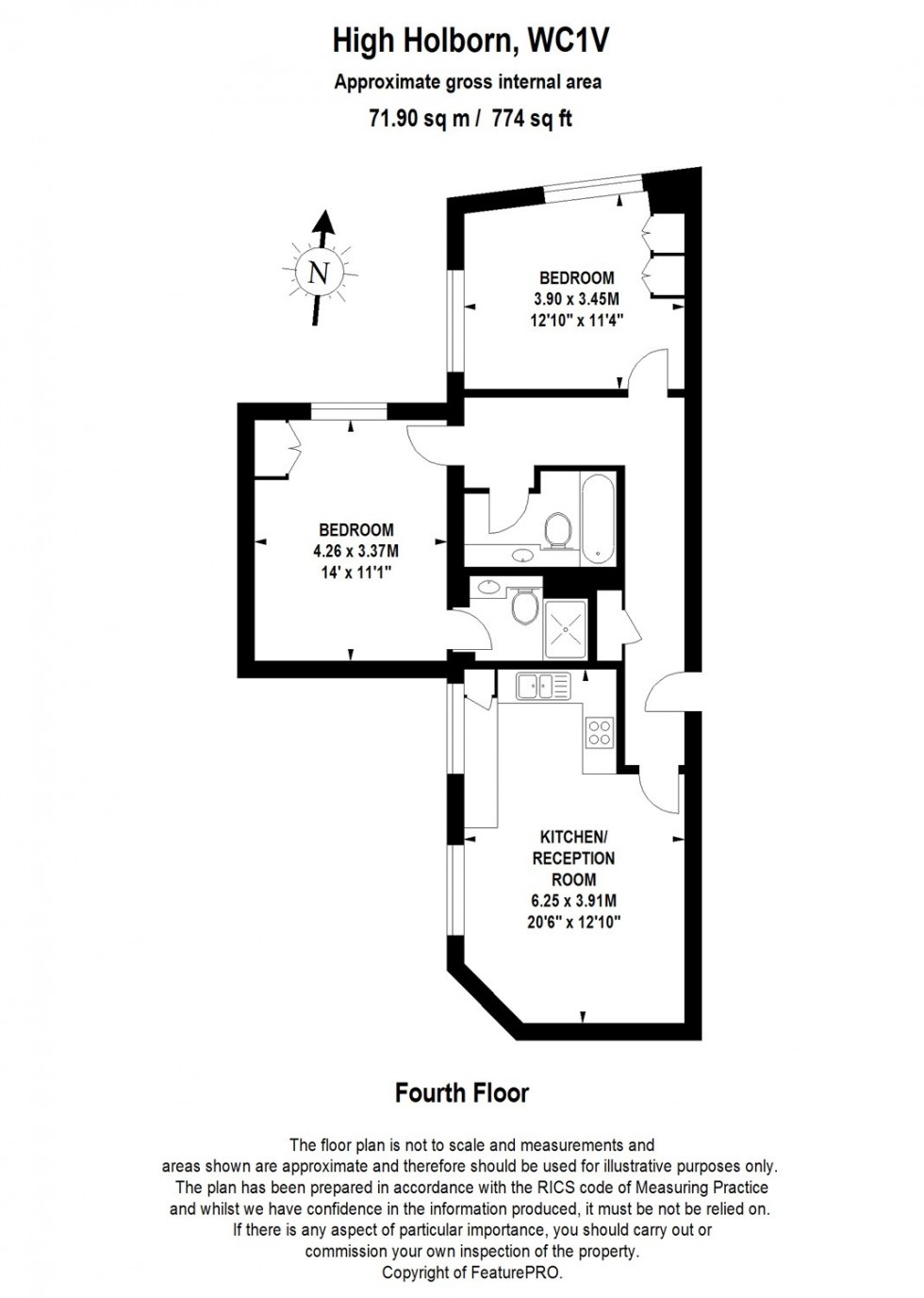 Floorplan for High Holborn, Clerkenwell, London