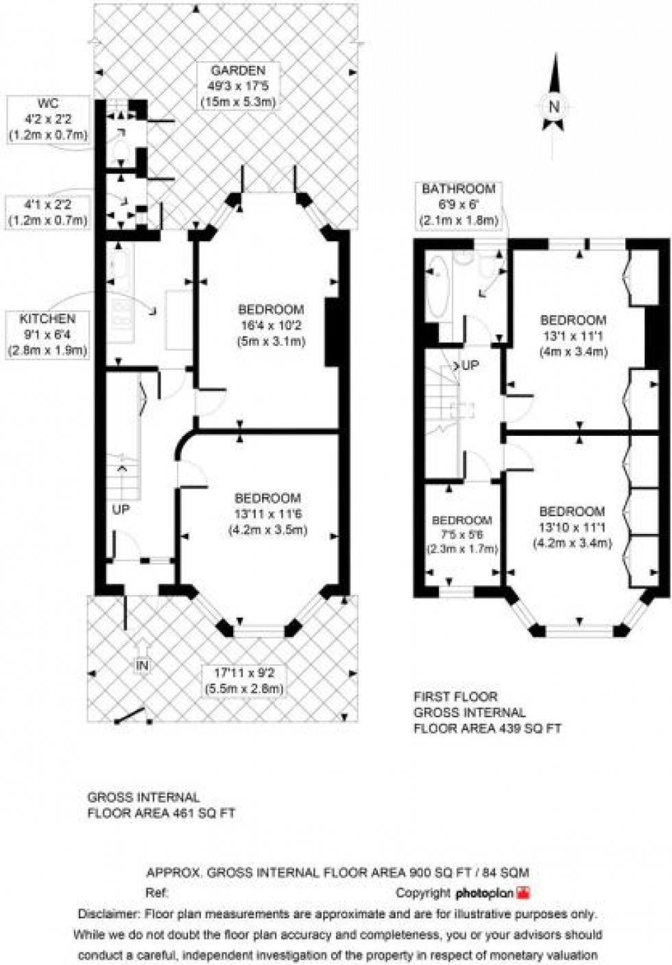 Floorplan for Lyndhurst Road, London