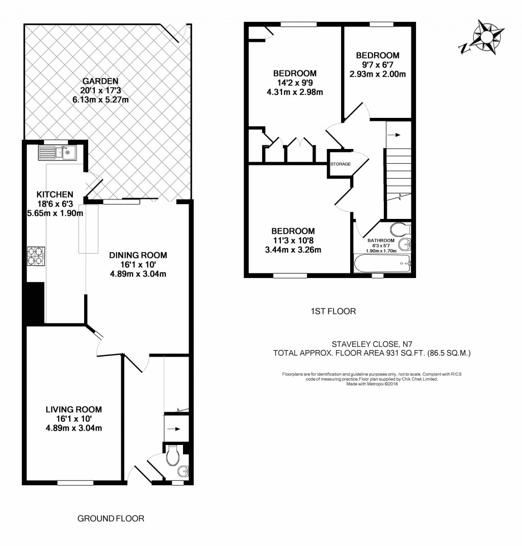 Floorplans For Staveley Close, London