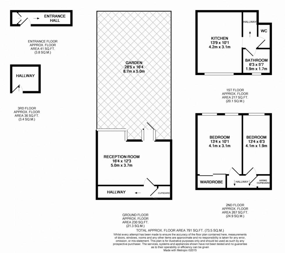 Floorplan for Bakersfield, Crayford Road, Tufnell Park
