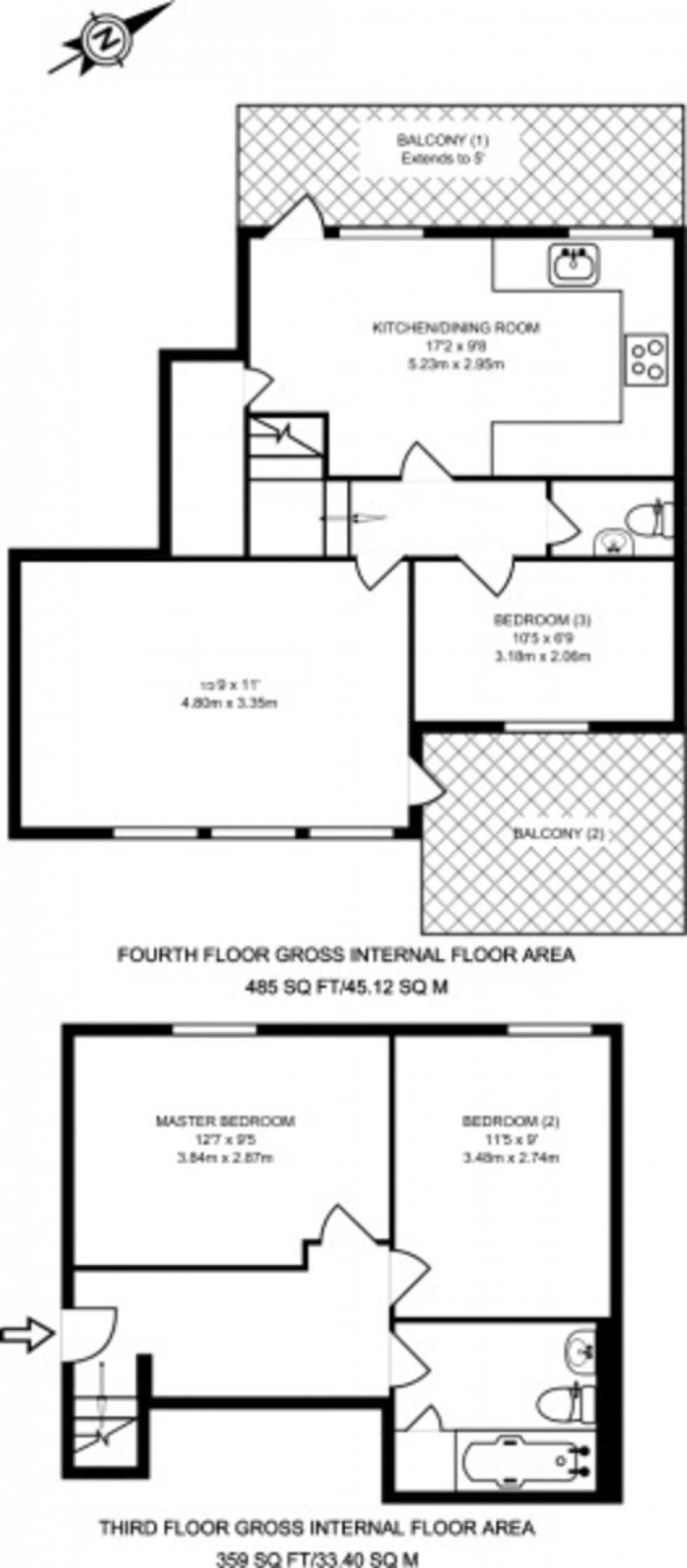 Floorplan for Islington, London