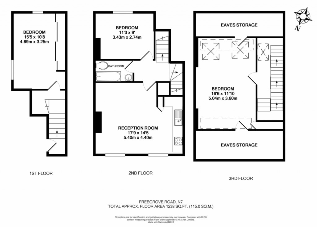 Floorplans For Freegrove Road, London