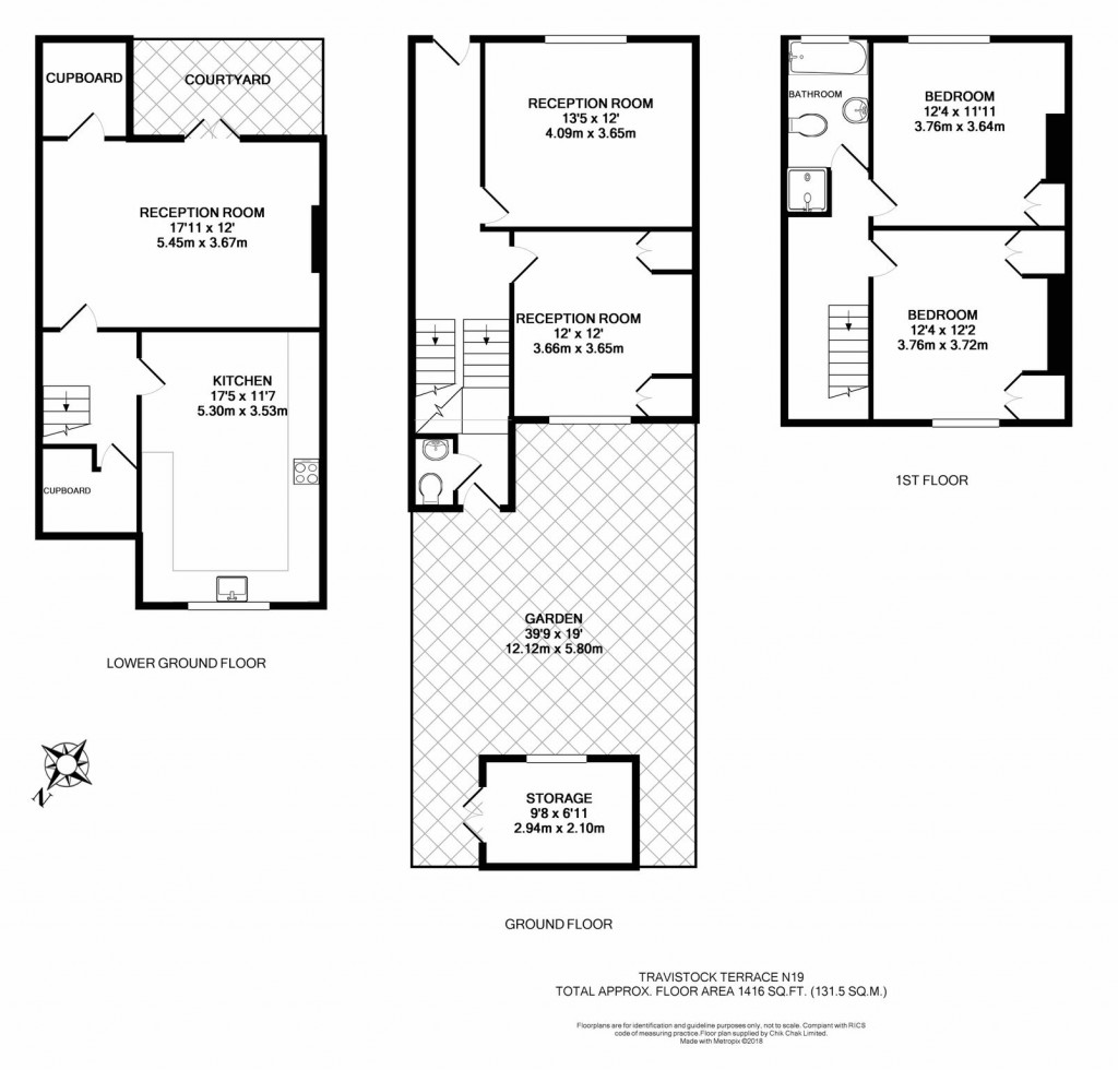 Floorplans For Tavistock Terrace, London