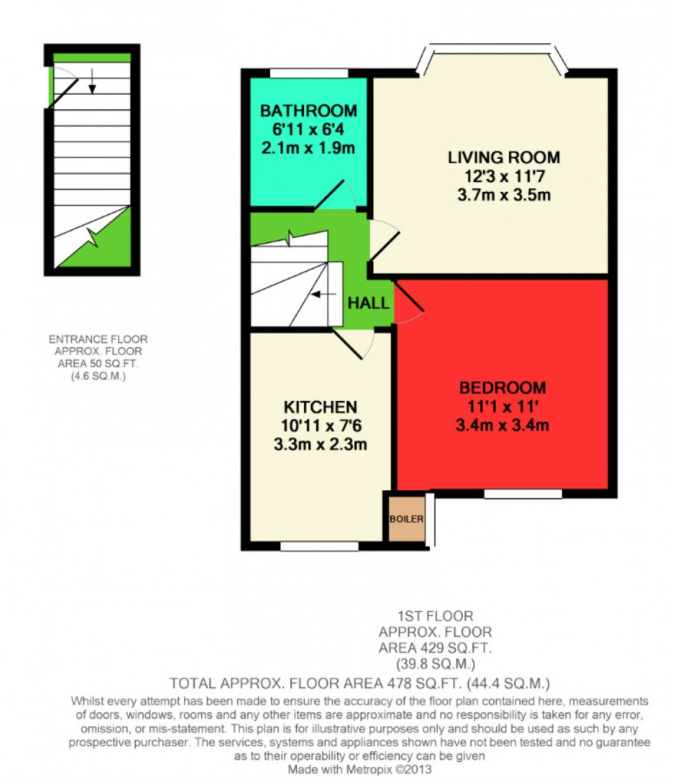 Floorplan for Warlters Close, Holloway, London