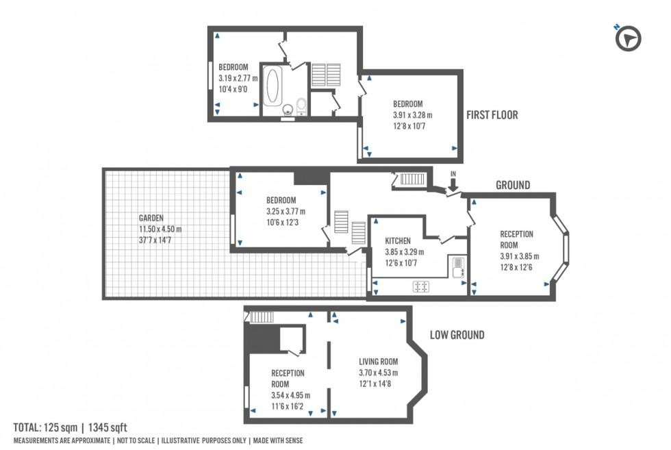 Floorplan for Tabley Road, Holloway, London