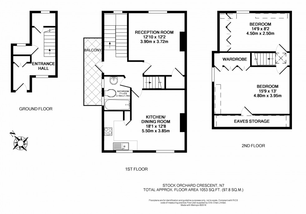 Floorplan for Stock Orchard Crescent, London