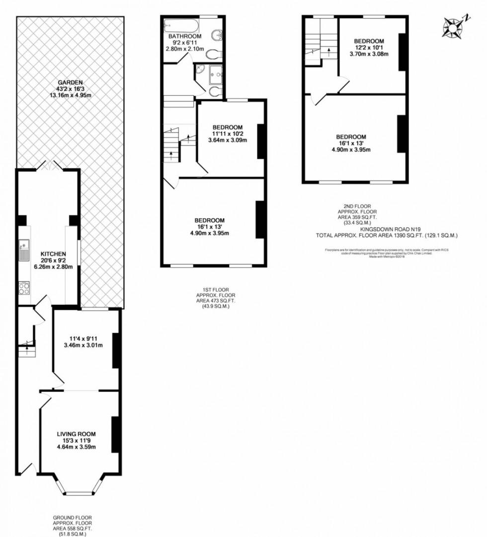 Floorplan for Kingsdown Road, London