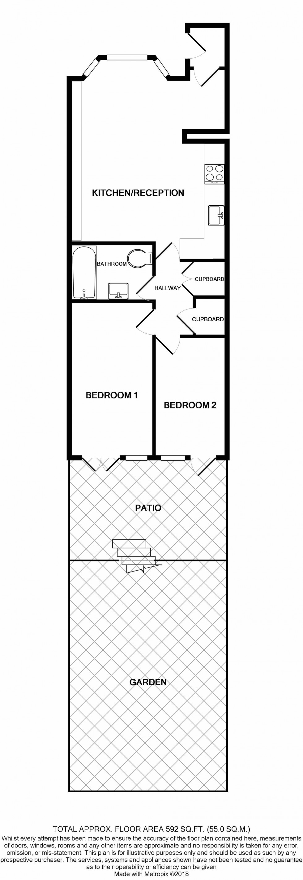 Floorplan for Medina Road, Islington, London