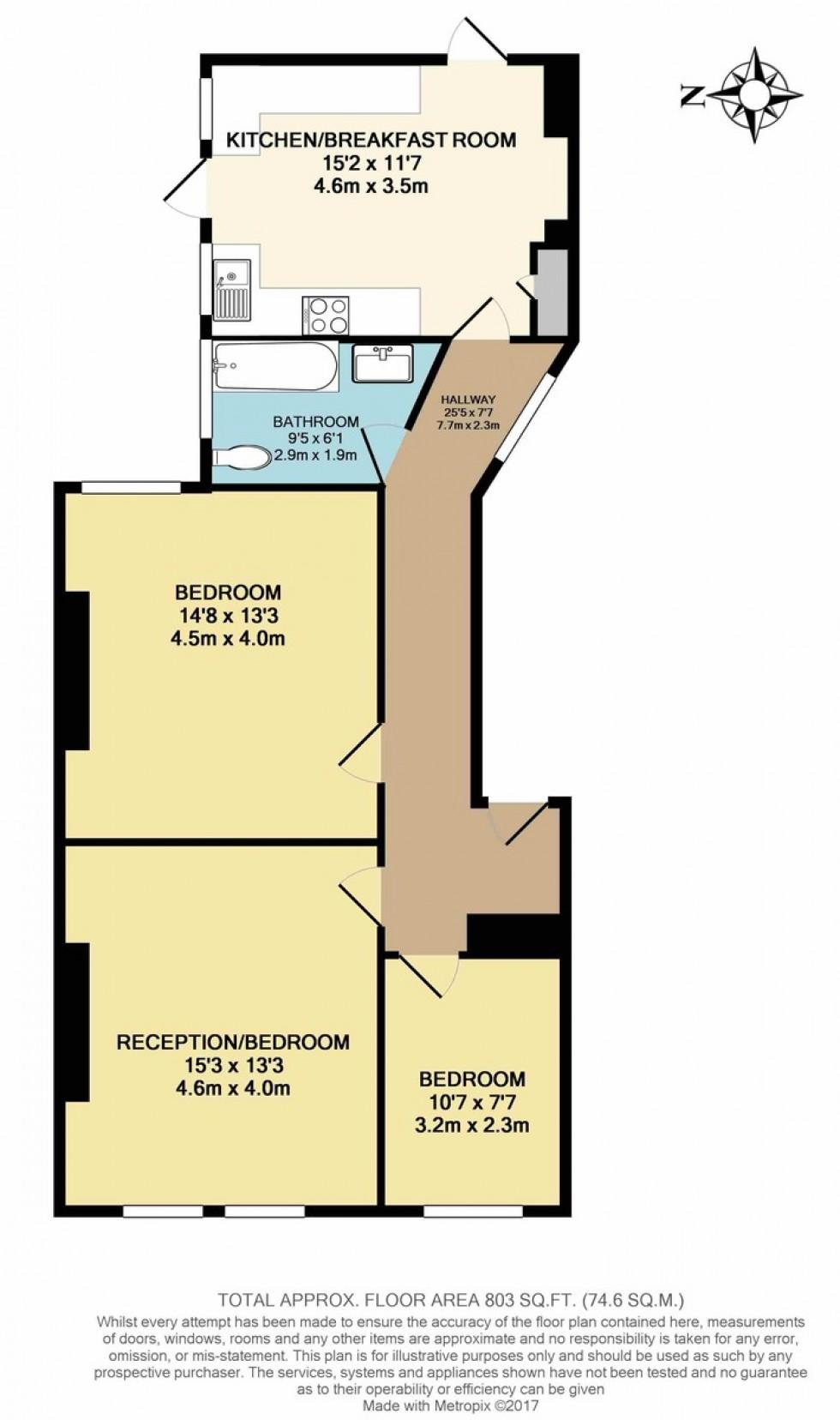 Floorplan for Widdenham Road, Islington, London