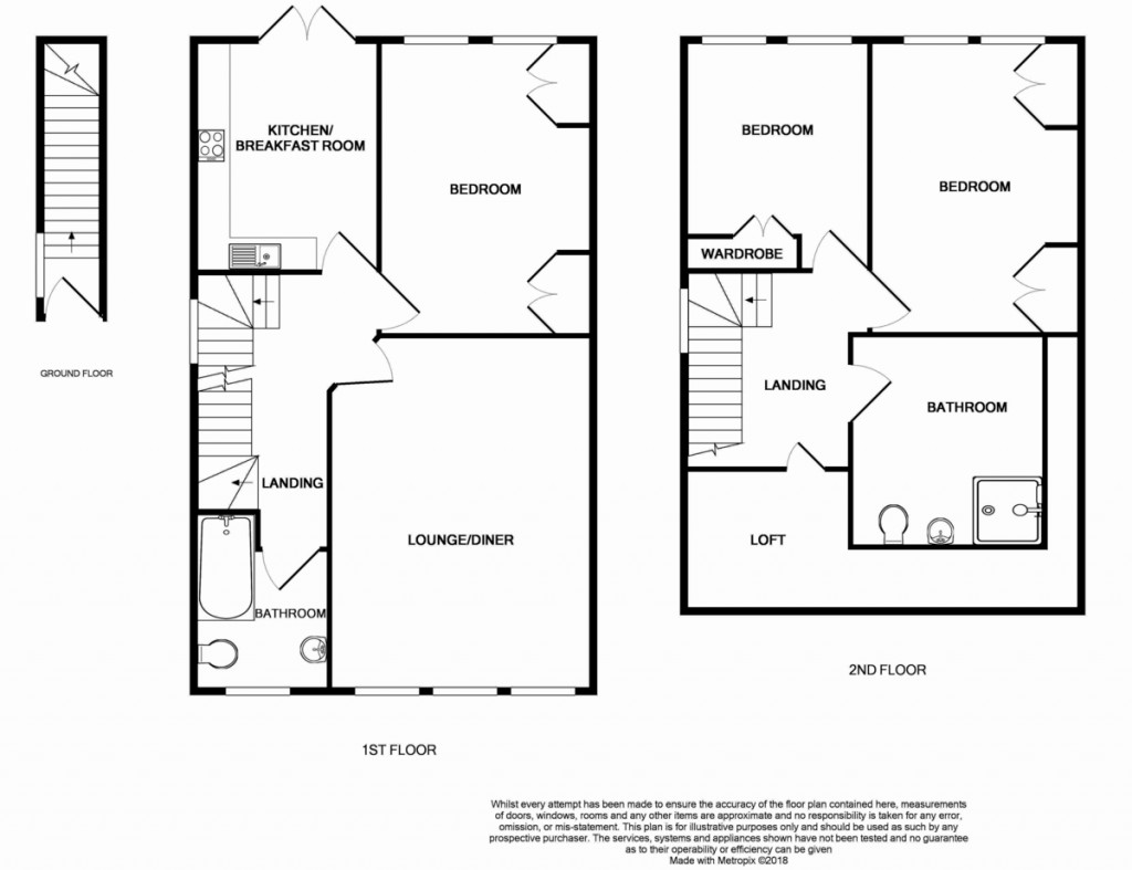 Floorplans For Old Park Road, Palmers Green, London