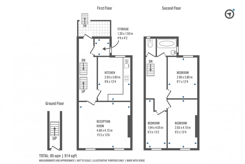 Floorplan for Lennox Road, London