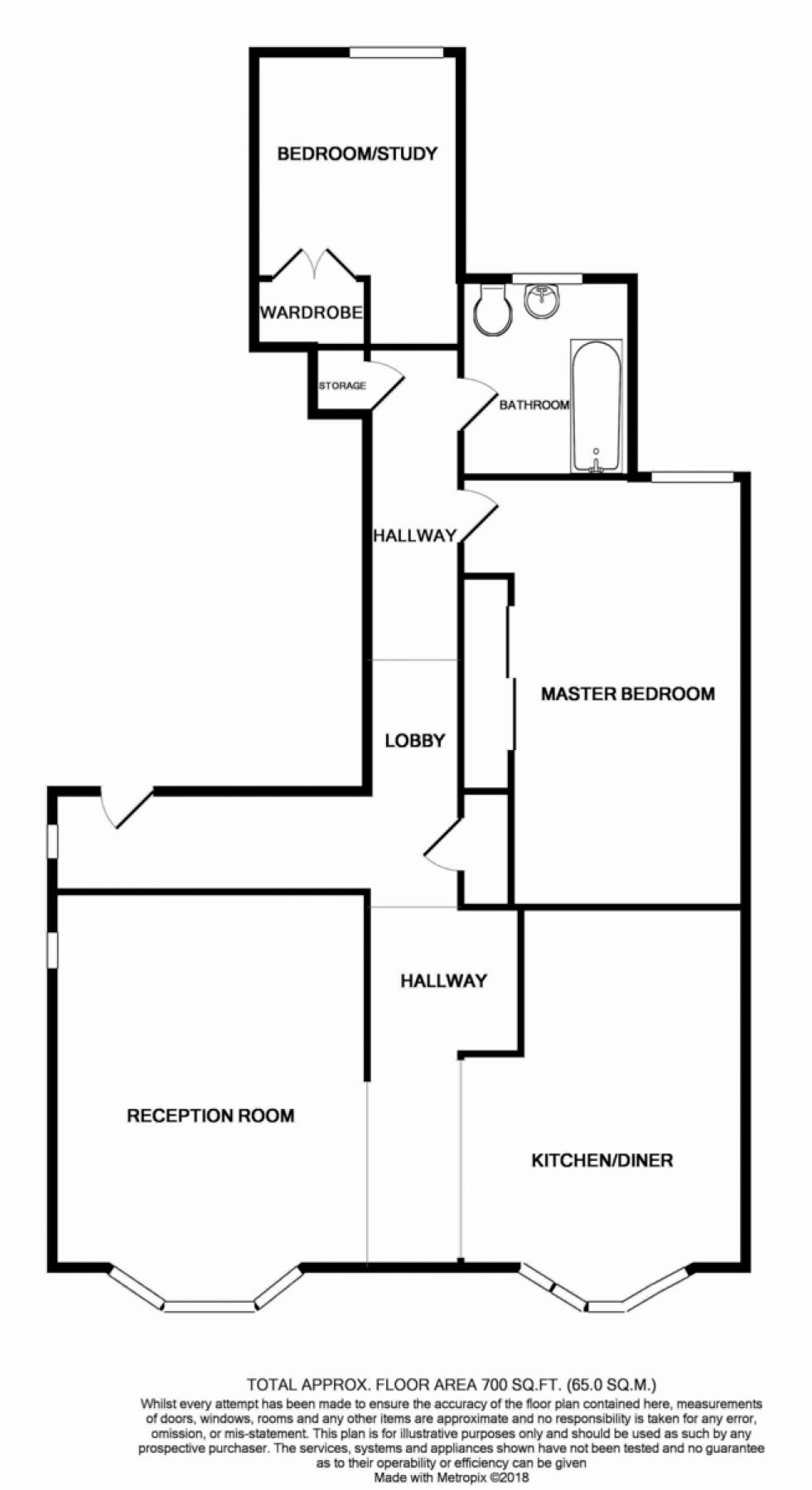 Floorplan for Arthur Road, Islington