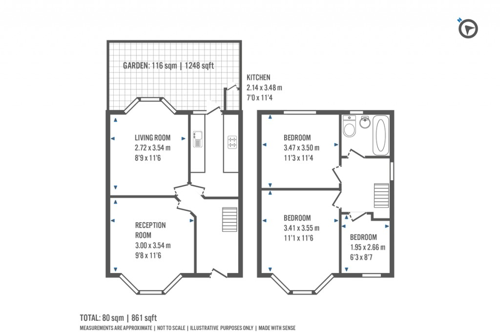 Floorplans For Warren Crescent, London