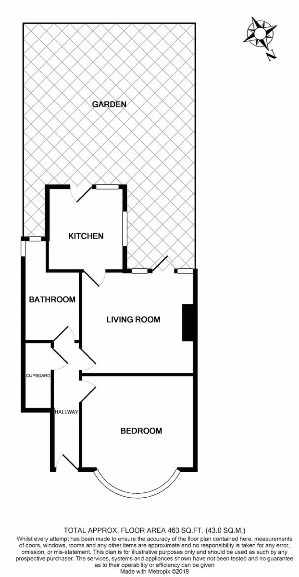 Floorplan for Warlters Close, Islington, London