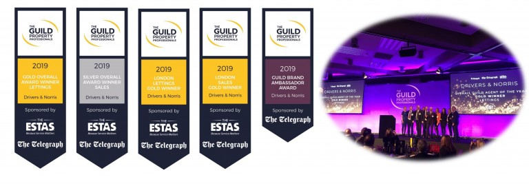 Drivers & Norris win 5 AWARDS at the Guild of Property Professionals Awards 2019
