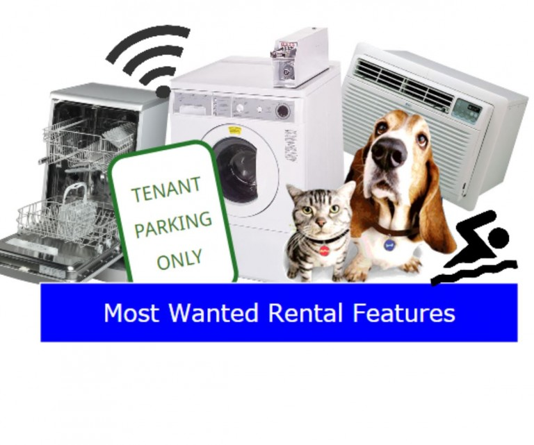 Renters' top 10 most wanted property features