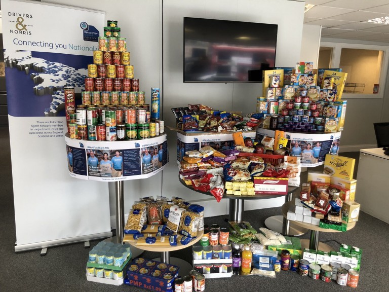 DRIVERS & NORRIS HAS HELPED TO DONATE MORE THAN 15,000 ITEMS OF FOOD FOR THE NATION'S LOCAL FOODBANKS